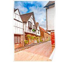 Classic Old English Village - Tudor Britain Poster