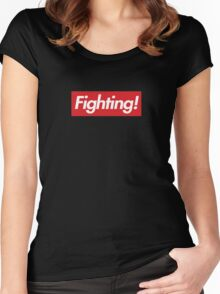 Fighting- Red Design Women's Fitted Scoop T-Shirt
