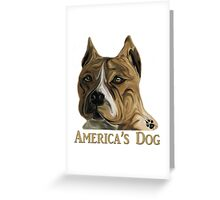 American Pit Bull Terrier - America's Dog Greeting Card