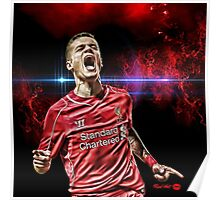"""RED HOT Philippe Coutinho """"COSMIC"""" Poster"""