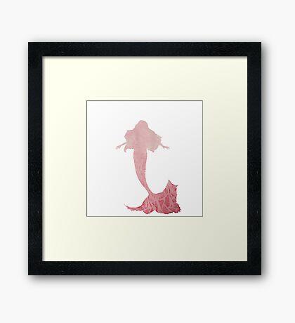 Water Color Mermaid Framed Print