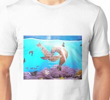 Inspirational Love And Peace Quote With Loving Sea Lions Painting  Unisex T-Shirt