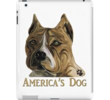 American Pit Bull Terrier - America's Dog iPad Case/Skin