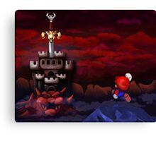 Super Mario RPG Bowser's Castle Canvas Print