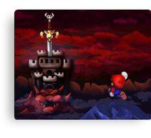 Super Mario RPG Bowser's Castle Canvas Print