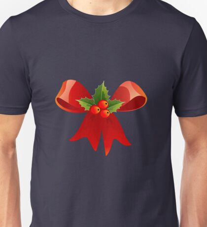 bow and holly Unisex T-Shirt