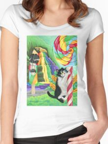 Sweet Kitty Women's Fitted Scoop T-Shirt