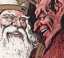 Krampus and Santa Christmas Sticker