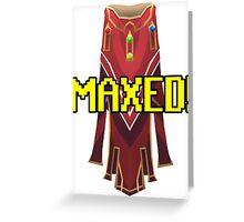 RUNESCAPE MAX CAPE! Greeting Card
