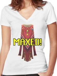 RUNESCAPE MAX CAPE! Women's Fitted V-Neck T-Shirt