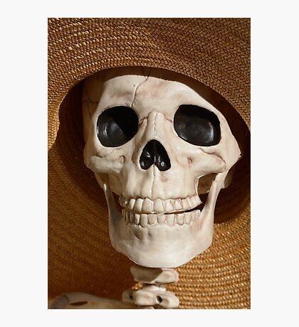 Skull in hat Photographic Print