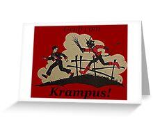 Gruss vom Krampus Greeting Card