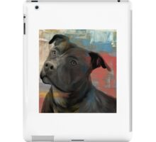 Pit Bull Piglet in Paint iPad Case/Skin