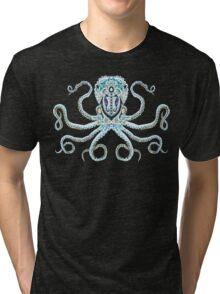 Sugar Skull Octopus Tri-blend T-Shirt