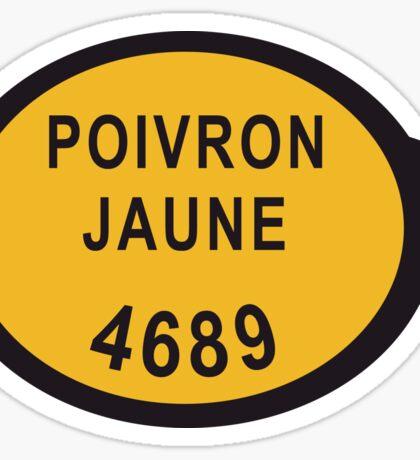 Poivron Jaune Sticker