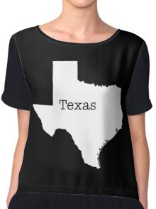 Texas State outline Chiffon Top