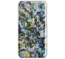 Concerned- Original Acrylic Painting Abstract Expressionism Cool Colors iPhone Case/Skin