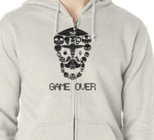Game Over(Dark on Light) Zipped Hoodie