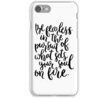 Be Fearless (White) iPhone Case/Skin