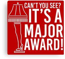 Major Award Canvas Print