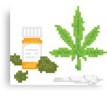 Medical marijuana Canvas Print