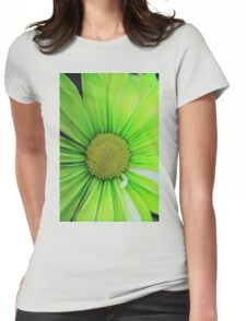 Green Flower Beauty 1 Womens Fitted T-Shirt