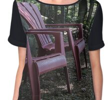 Peaceful morning in the forrest Chiffon Top