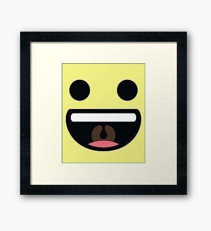 Emoji Super Bright Smile Framed Print