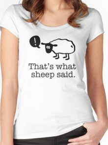 That's What Sheep Said Women's Fitted Scoop T-Shirt