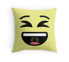 Emoji Super Delighted and Happy Throw Pillow