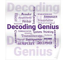 Decoding Genius Poster
