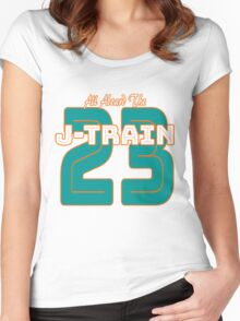 All Aboard the Ajayi J-Train Tshirt Women's Fitted Scoop T-Shirt