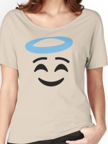Emoji with Angel Halo Women's Relaxed Fit T-Shirt