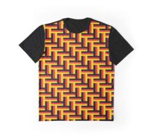 German Tricolor in Herringbone Pattern Graphic T-Shirt