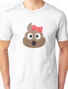 Cute Funny Pink Poop Emoji Unisex T-Shirt