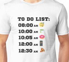 TO DO LIST EMOJI FUNNY Unisex T-Shirt