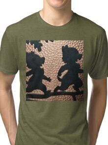 silhouette chip dale chipmunks Tri-blend T-Shirt