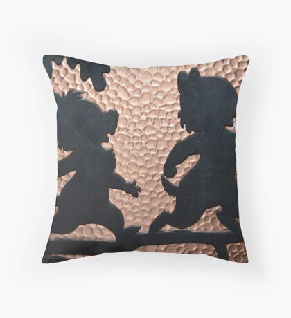 silhouette chip dale chipmunks Throw Pillow