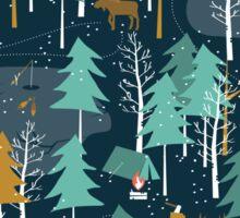 Winter Camping Sticker