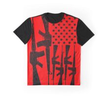 AR-15 2nd Amendment Gun Rights American Flag Graphic T-Shirt