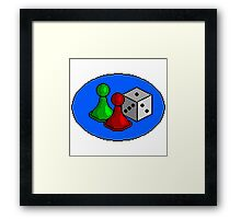 Board Game Patch Framed Print