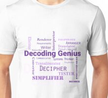Decoding Genius 2 Unisex T-Shirt