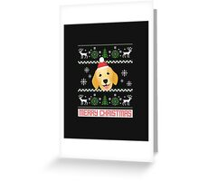Golden Retriever Santa Snow Christmas T-Shirt Greeting Card