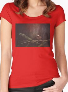 Chickadee in the Redwoods Women's Fitted Scoop T-Shirt