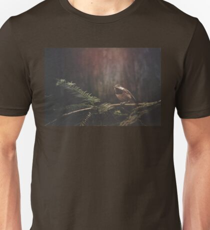 Chickadee in the Redwoods Unisex T-Shirt