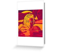 Sunset Swim [Imagine Series] Greeting Card