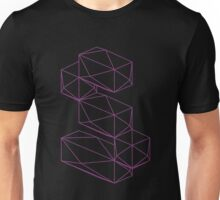 Isometric letter S wire frame Unisex T-Shirt