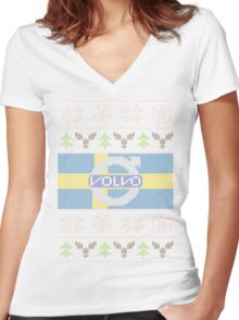 Volvo Ugly Sweater V2 Women's Fitted V-Neck T-Shirt