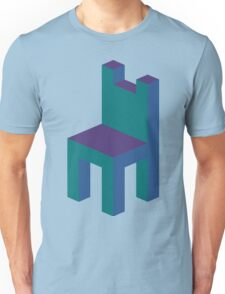 Isometric simple chair Unisex T-Shirt