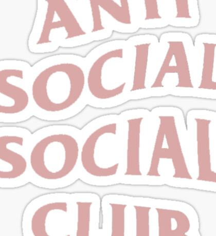Anti Social Social Club (Pink) Sticker